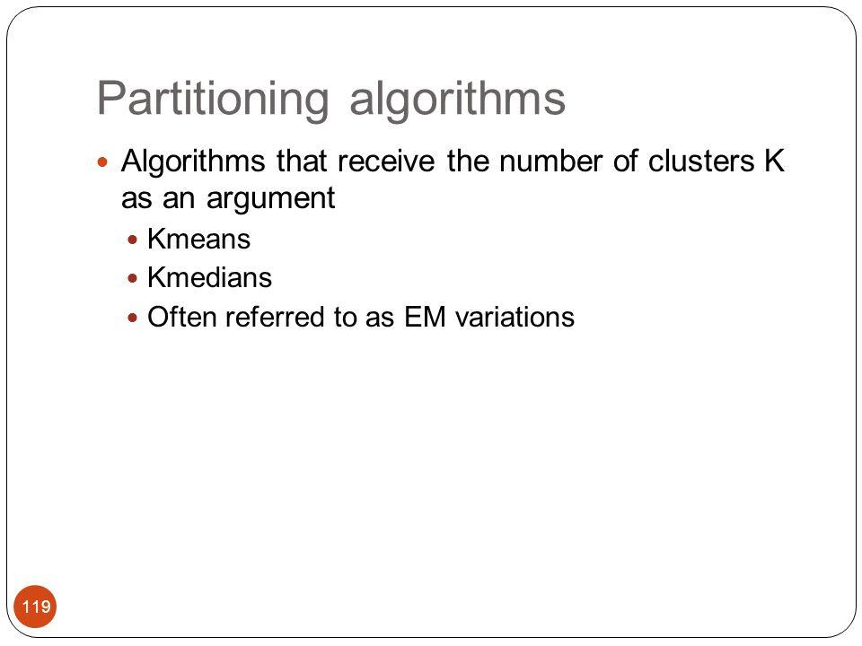 Partitioning algorithms
