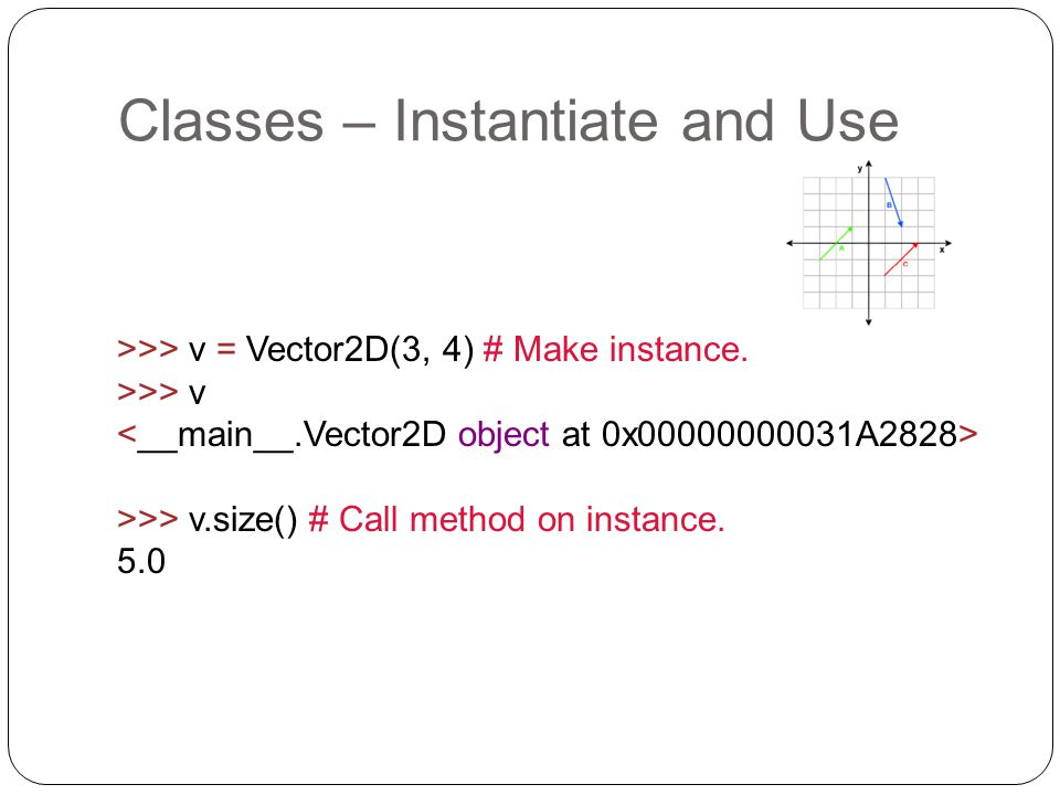 Classes – Instantiate and Use