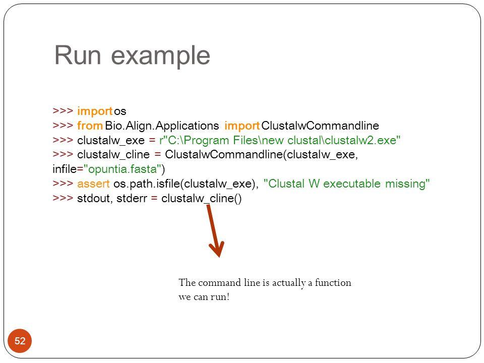Run example