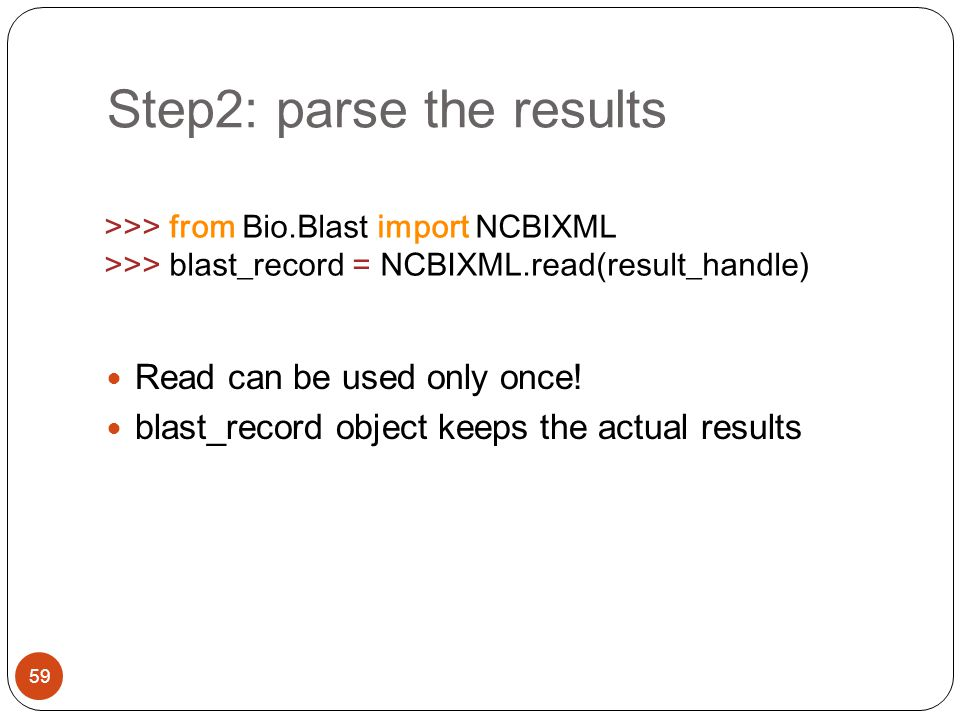 Step2: parse the results
