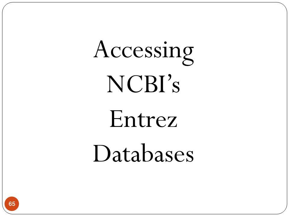 Accessing NCBI's Entrez Databases
