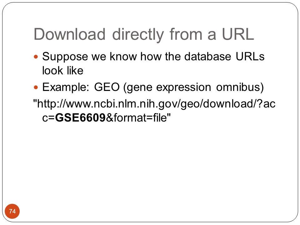 Download directly from a URL