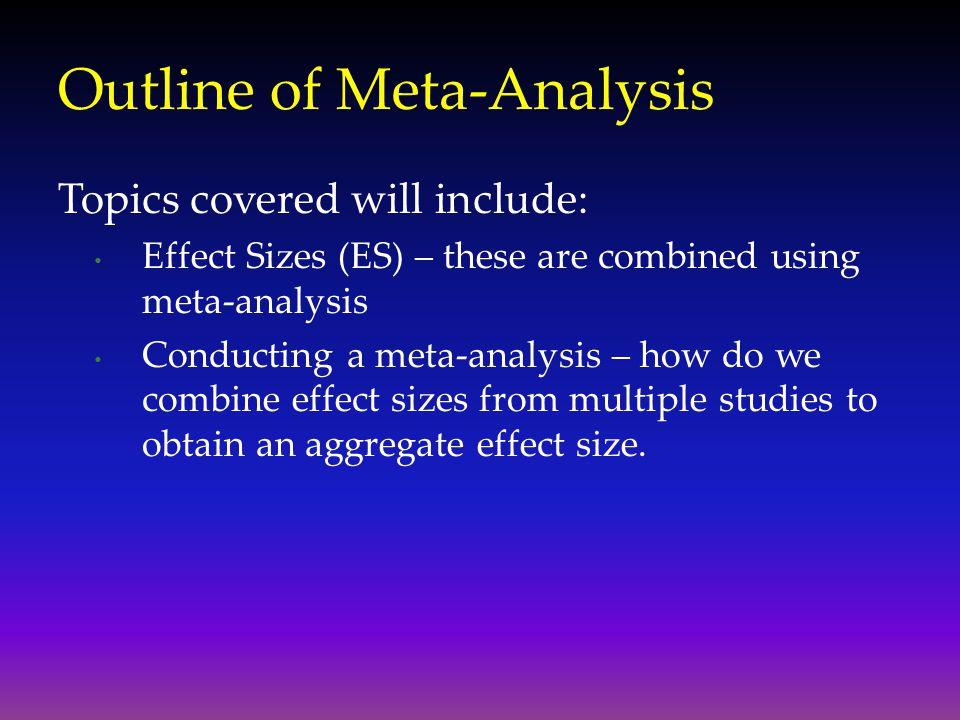 Outline of Meta-Analysis