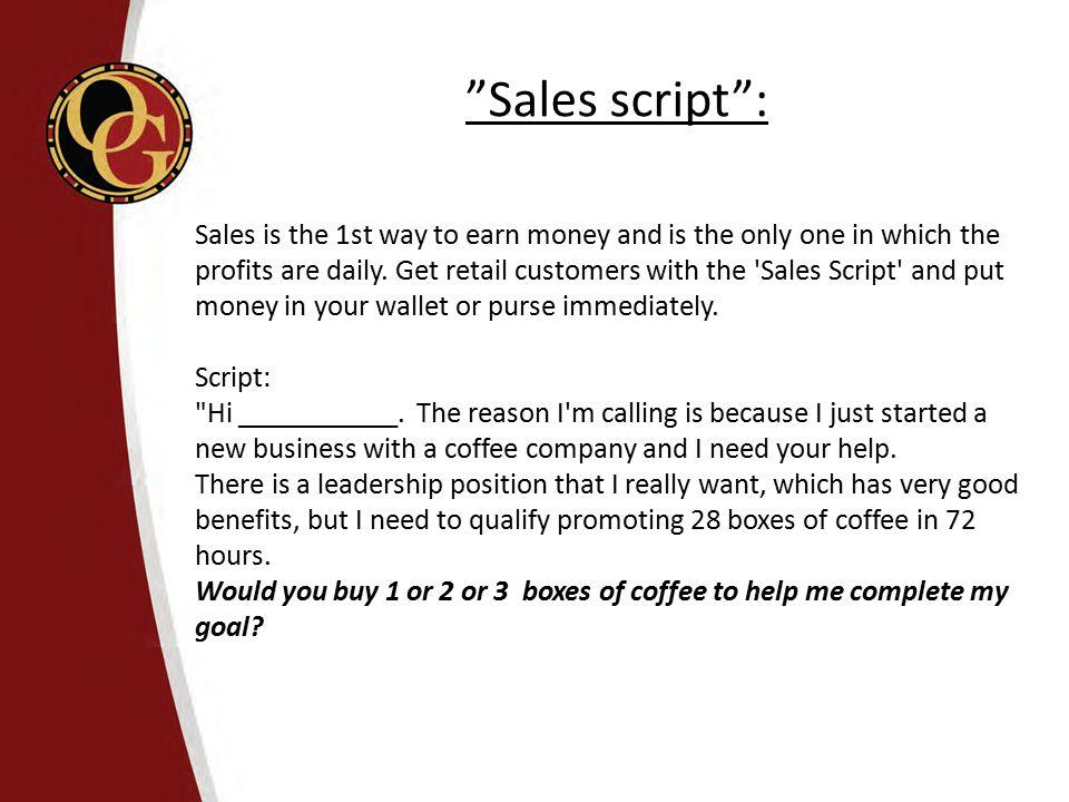 Sales script :