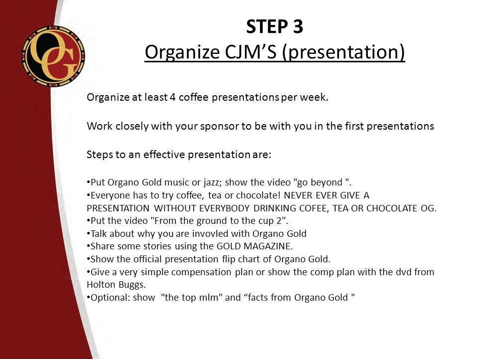Organize CJM'S (presentation)
