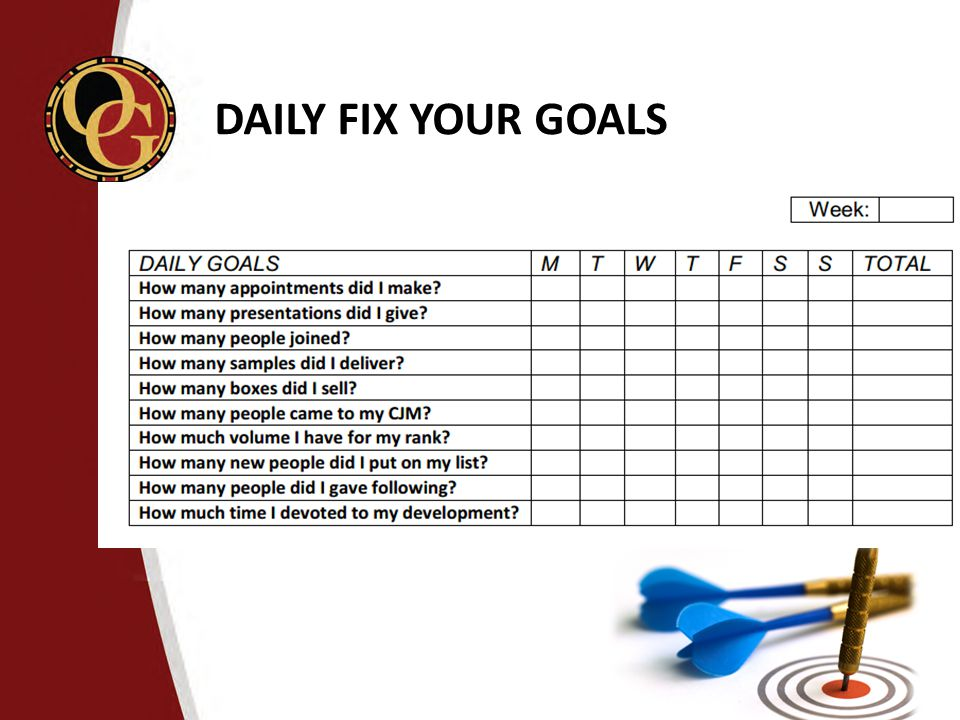 DAILY FIX YOUR GOALS