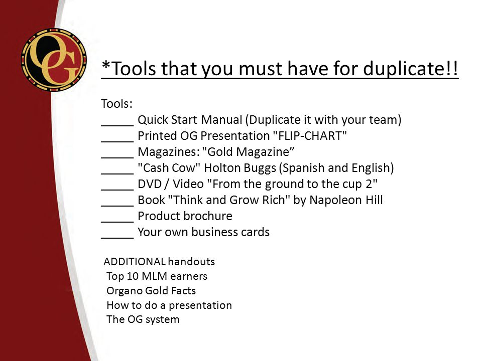 *Tools that you must have for duplicate!!