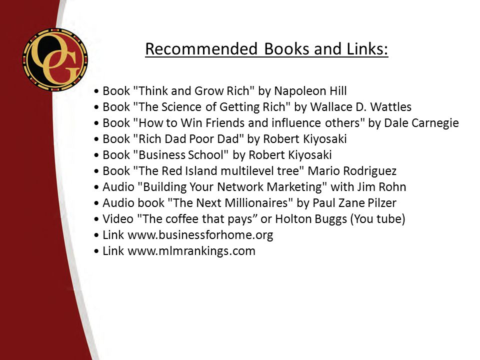 • Book Think and Grow Rich by Napoleon Hill