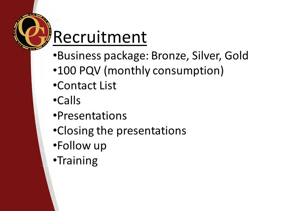 Recruitment Business package: Bronze, Silver, Gold