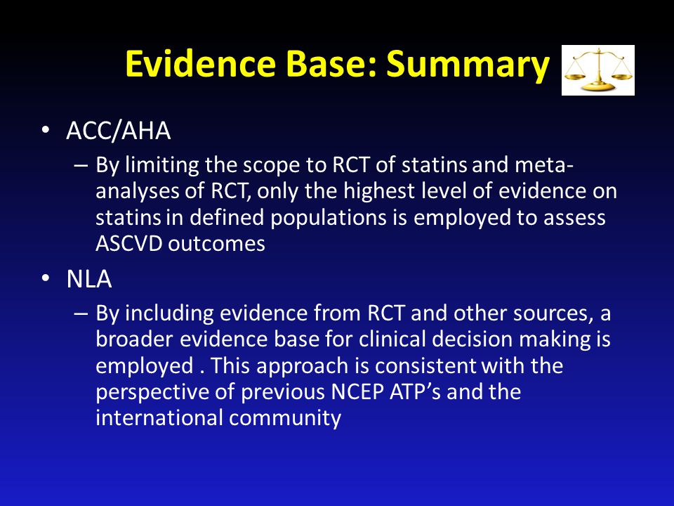 Evidence Base: Summary