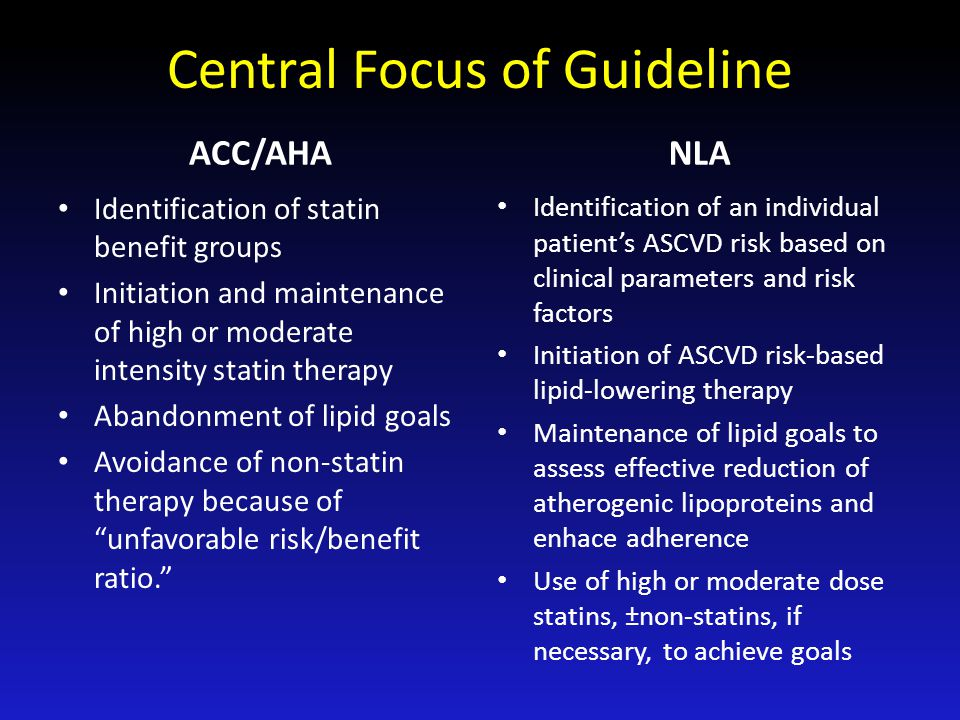Central Focus of Guideline