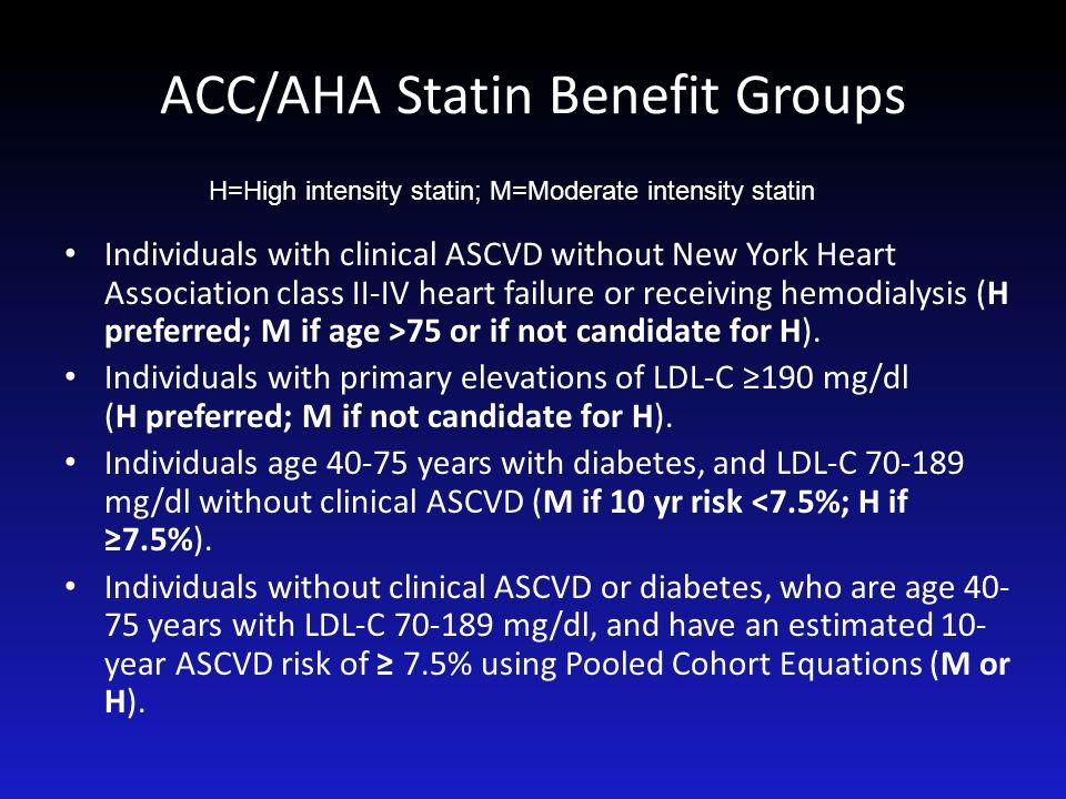 ACC/AHA Statin Benefit Groups