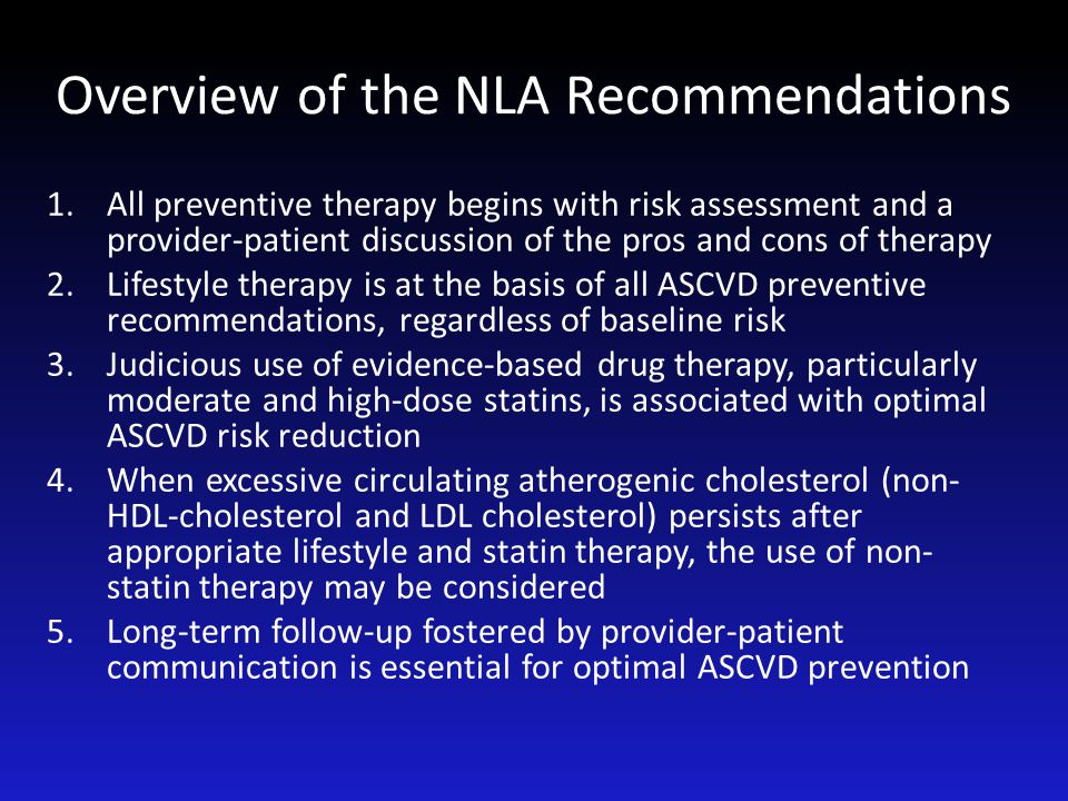 Overview of the NLA Recommendations