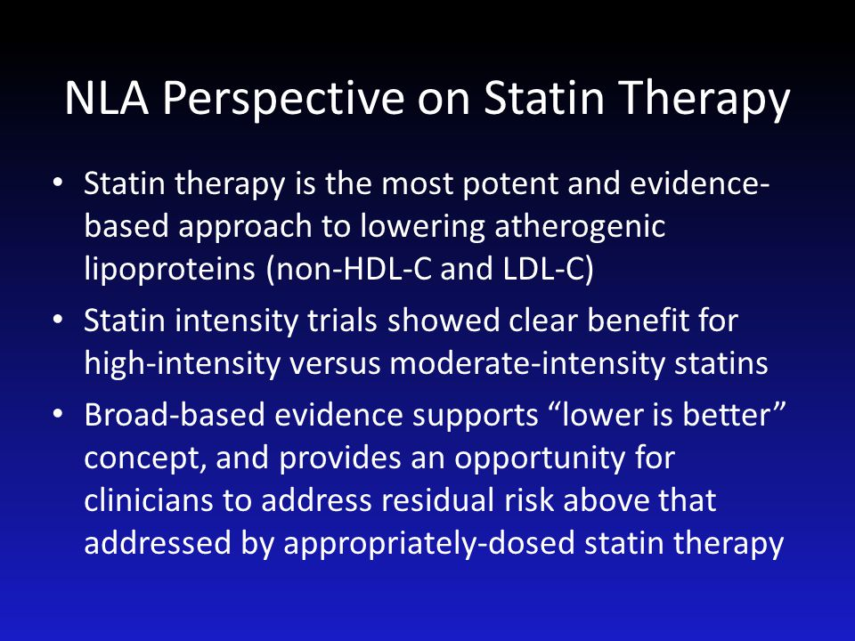 NLA Perspective on Statin Therapy