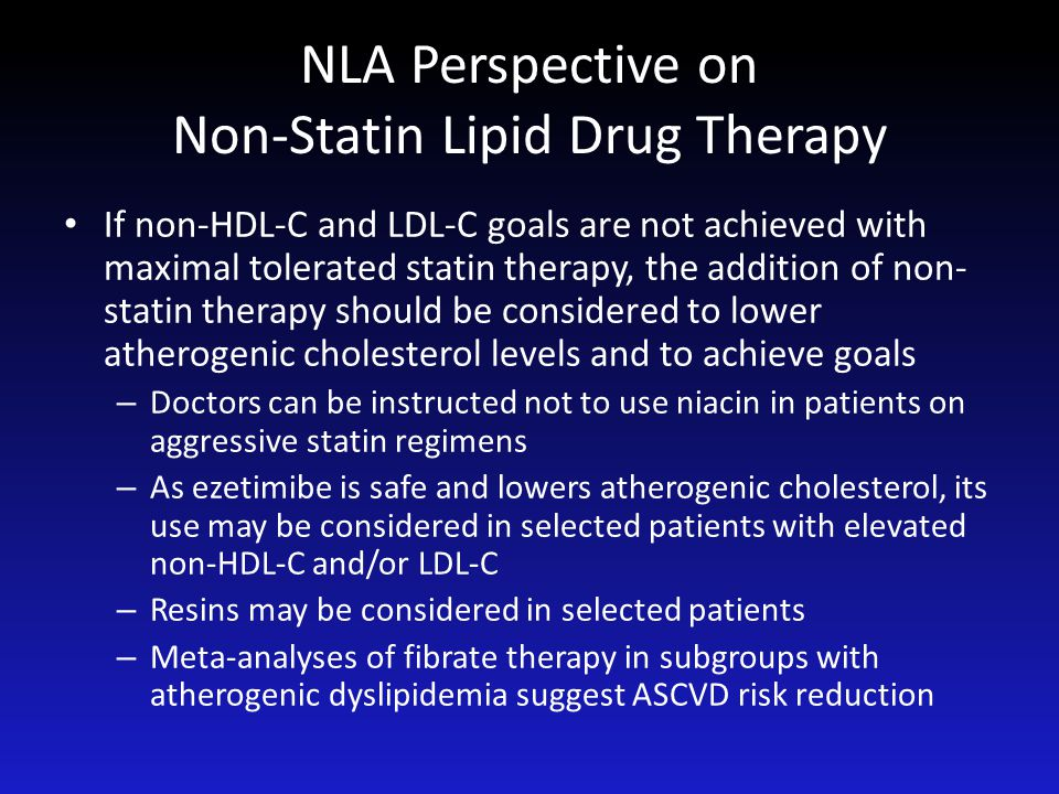 NLA Perspective on Non-Statin Lipid Drug Therapy