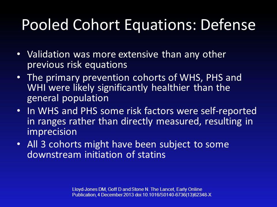 Pooled Cohort Equations: Defense