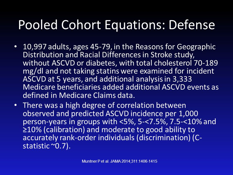 Pooled Cohort Equations: Defense