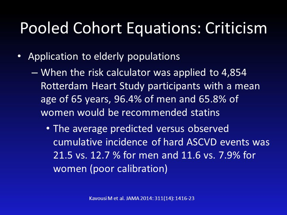 Pooled Cohort Equations: Criticism
