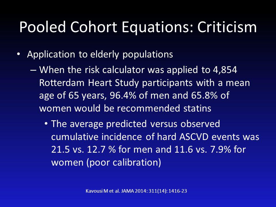 Pooled Cohort Equations: Criticism