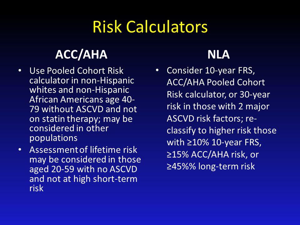 Risk Calculators ACC/AHA NLA