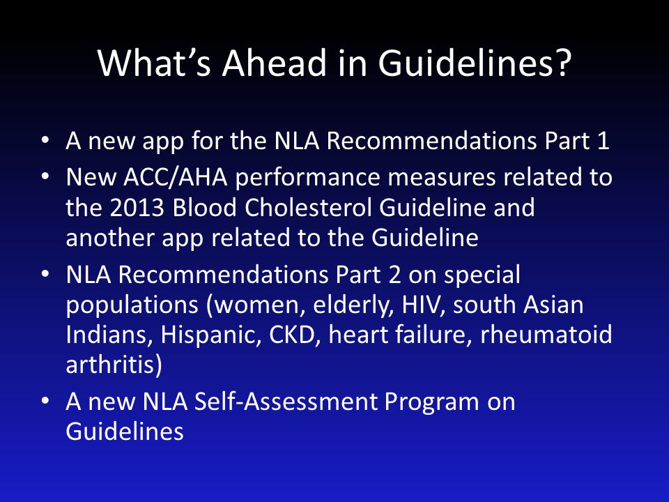 What's Ahead in Guidelines