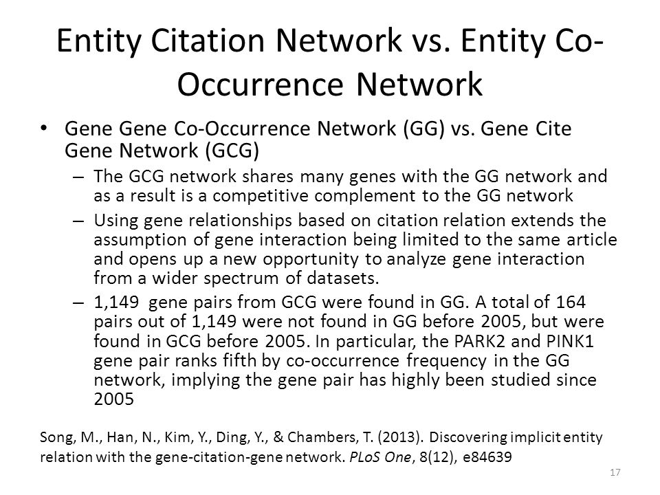 Entity Citation Network vs. Entity Co-Occurrence Network