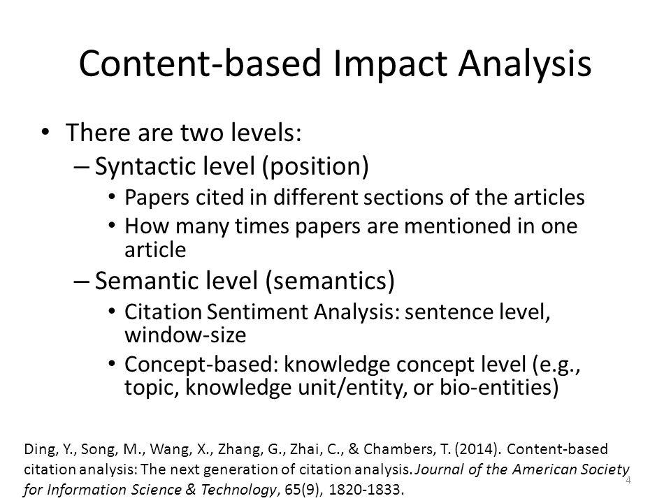 Content-based Impact Analysis