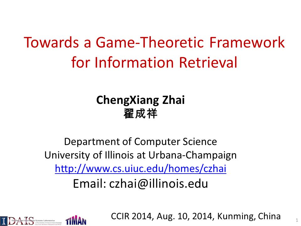 Towards a Game-Theoretic Framework for Information Retrieval