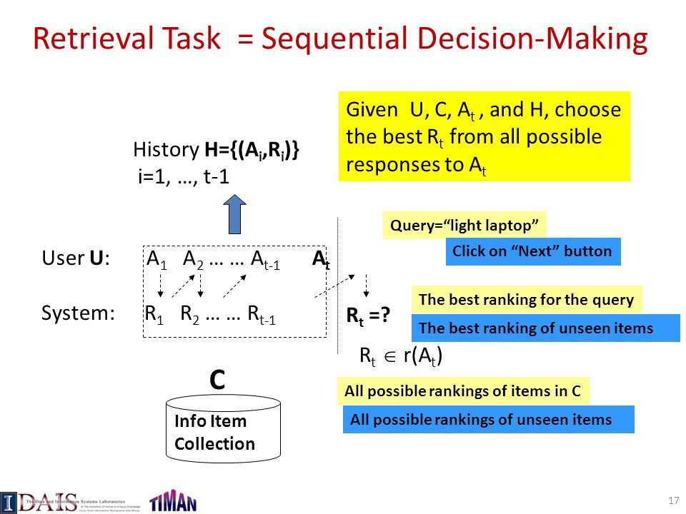 Retrieval Task = Sequential Decision-Making