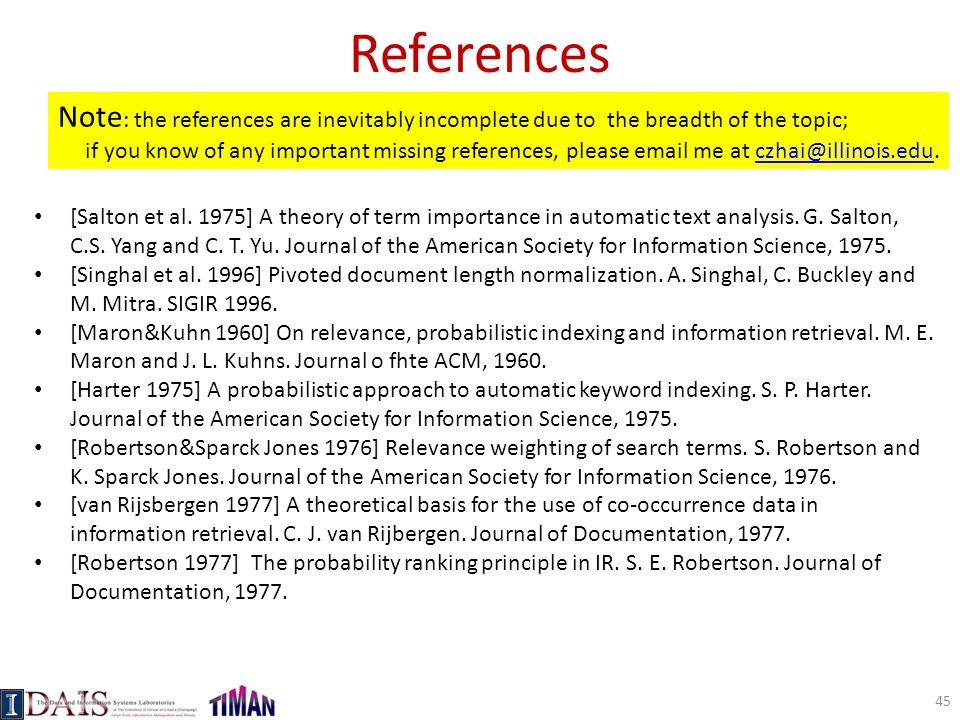 References Note: the references are inevitably incomplete due to the breadth of the topic;