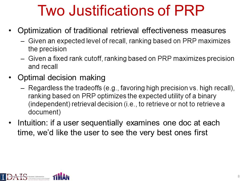 Two Justifications of PRP