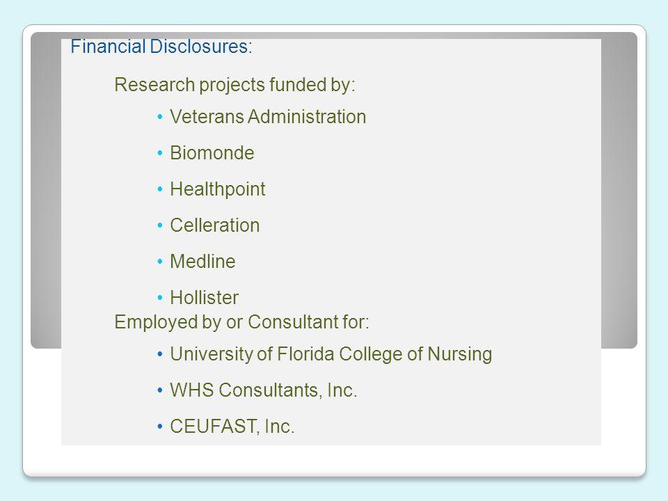Financial Disclosures: