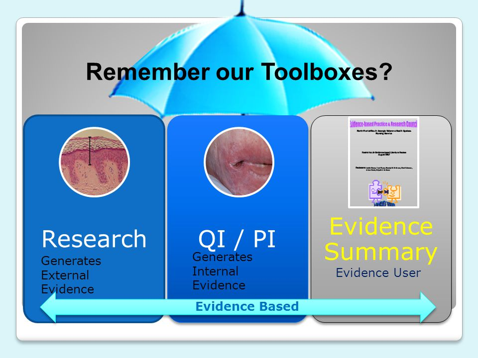Remember our Toolboxes