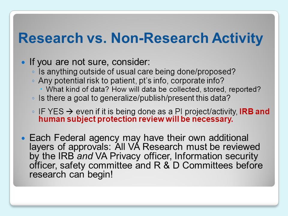 Research vs. Non-Research Activity