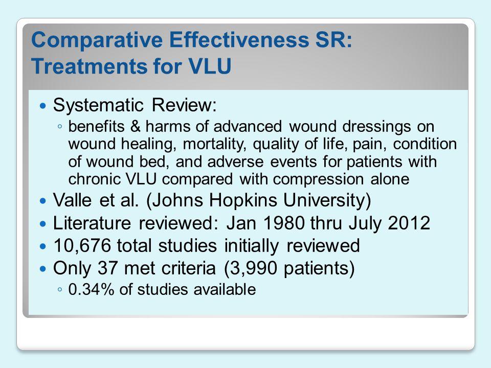Comparative Effectiveness SR: Treatments for VLU