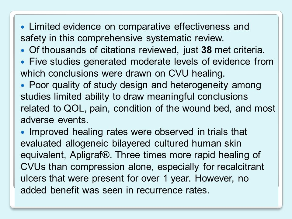 Limited evidence on comparative effectiveness and safety in this comprehensive systematic review.
