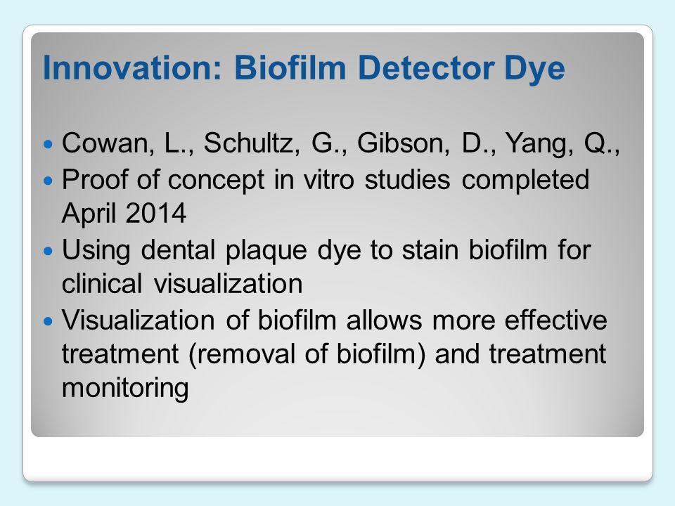 Innovation: Biofilm Detector Dye