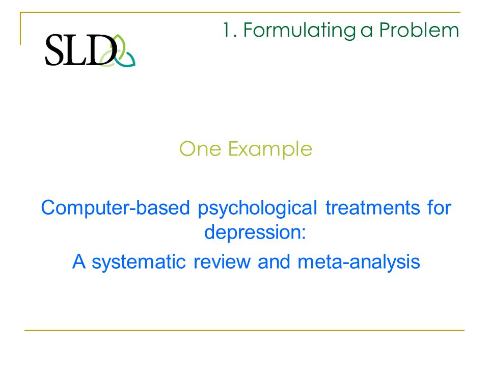 Computer-based psychological treatments for depression: