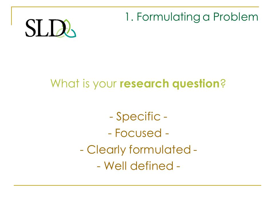 What is your research question