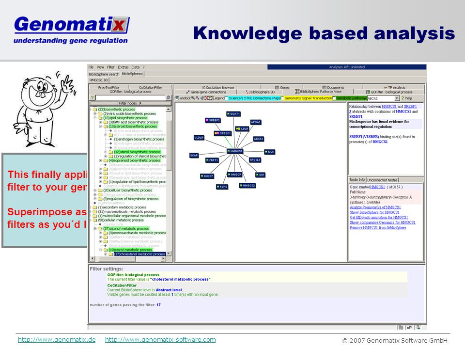 Knowledge based analysis