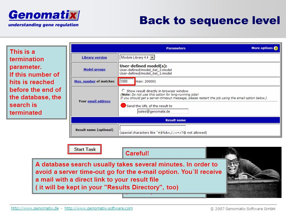 Back to sequence level This is a termination parameter.