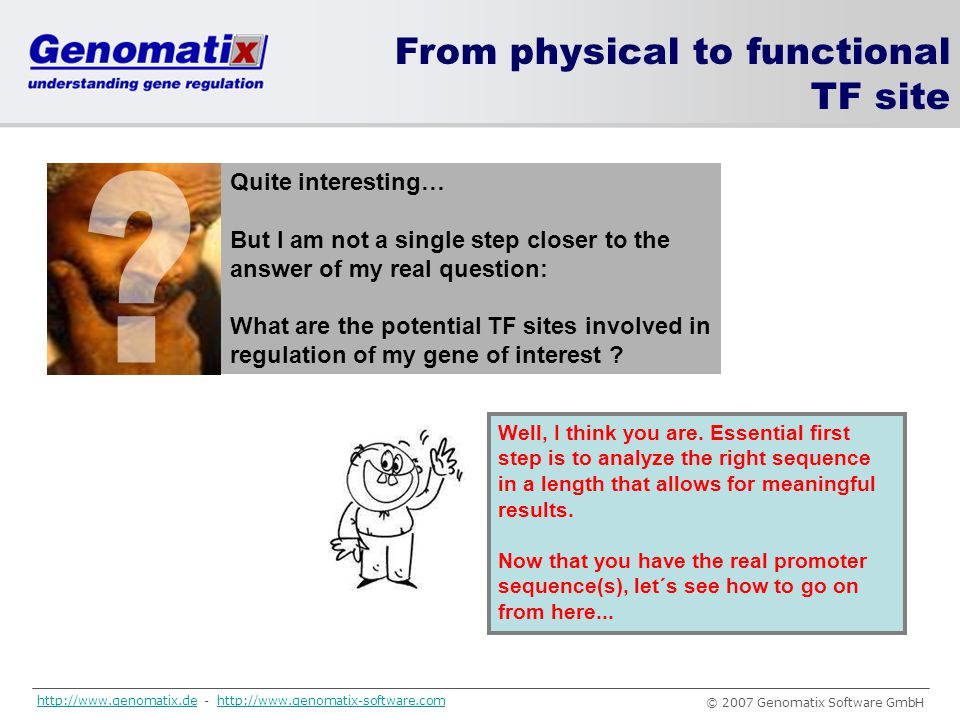 From physical to functional TF site Quite interesting…
