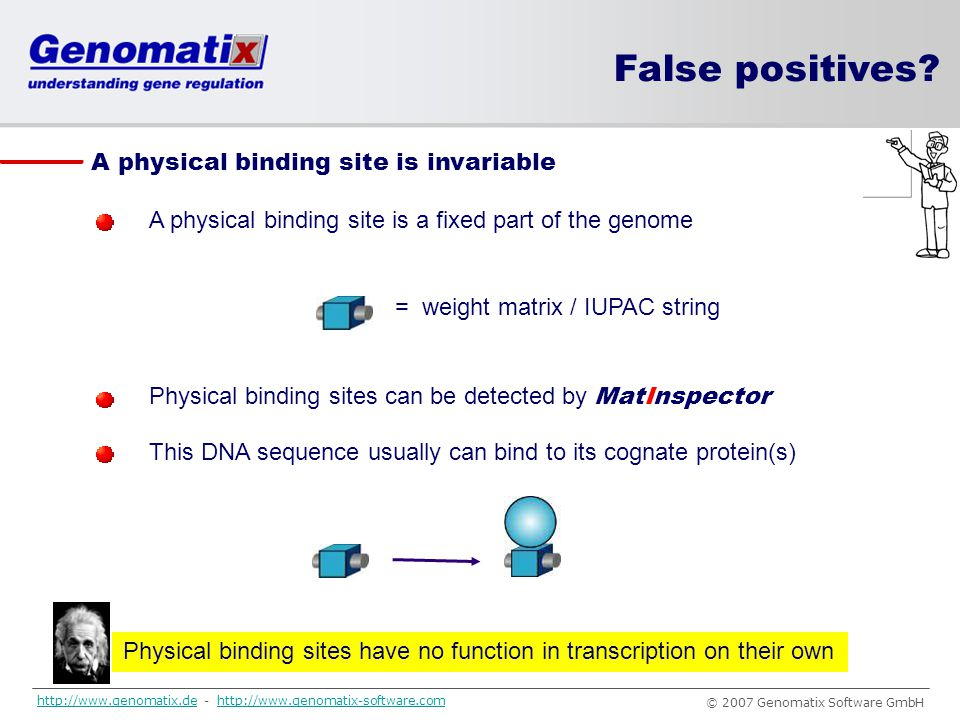 Physical binding sites have no function in transcription on their own