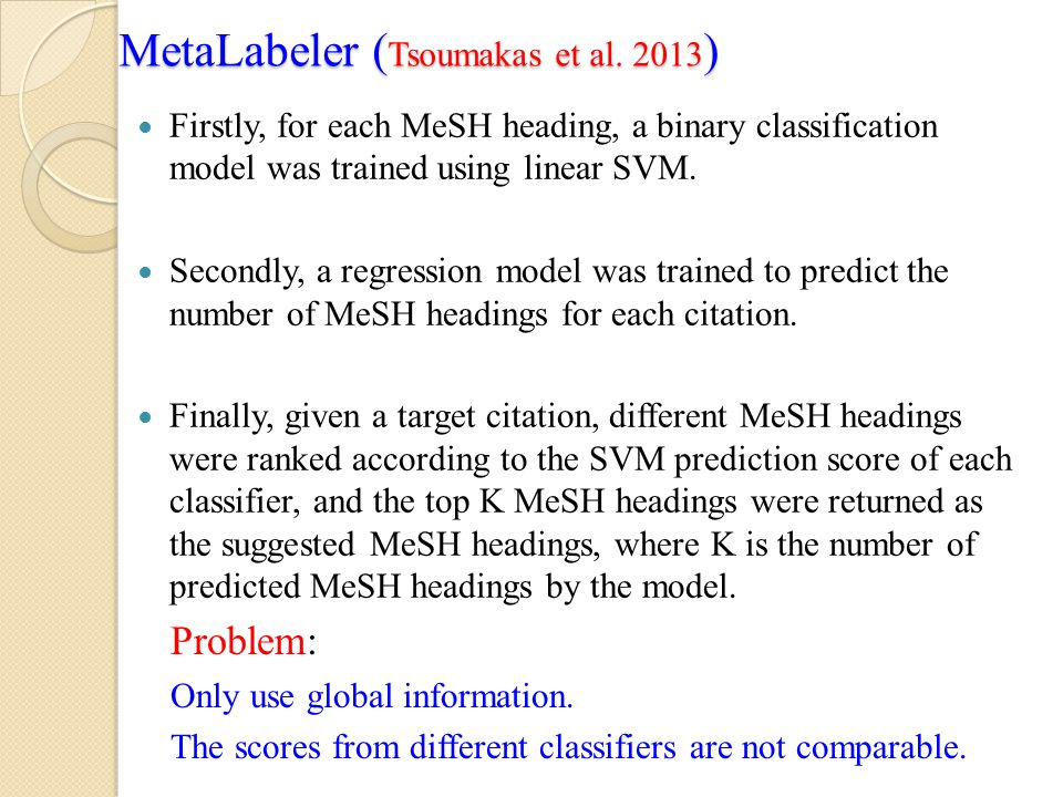 MetaLabeler (Tsoumakas et al. 2013)