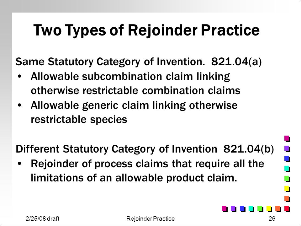 Two Types of Rejoinder Practice