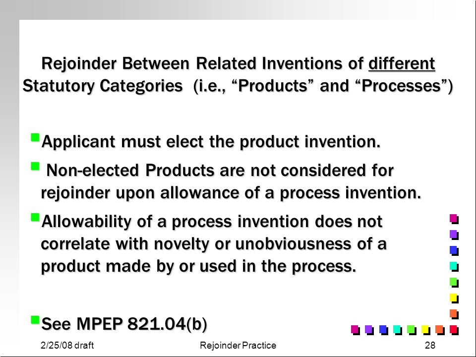 Applicant must elect the product invention.