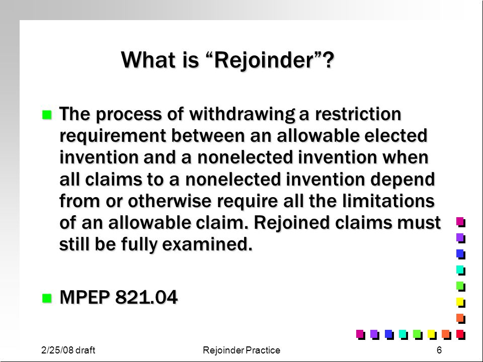 What is Rejoinder