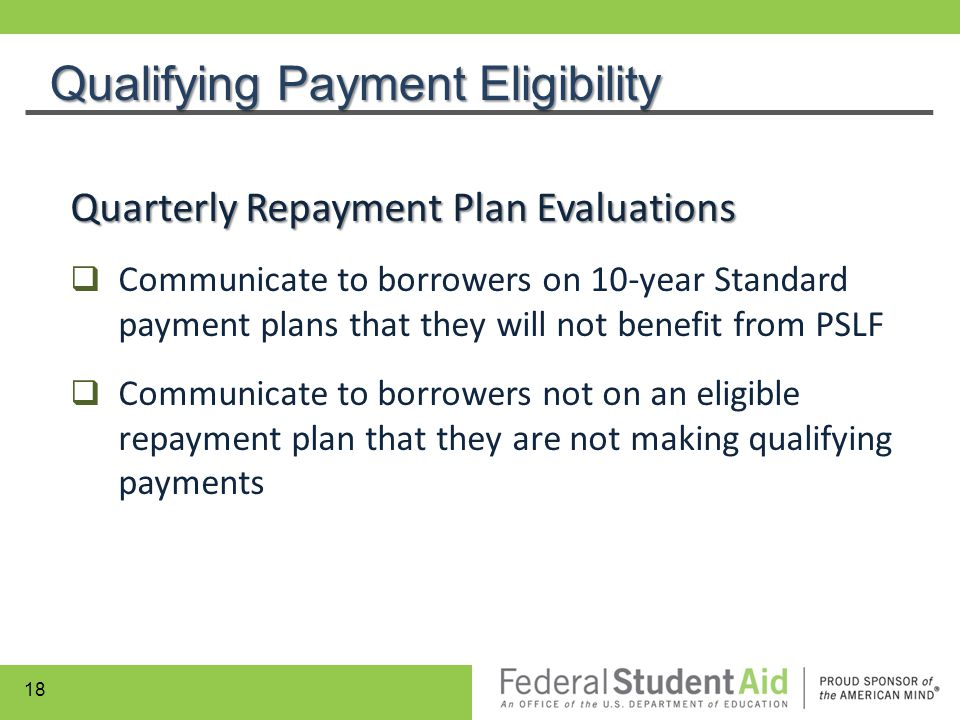 Qualifying Payment Eligibility
