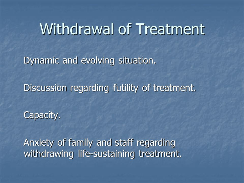 Withdrawal of Treatment