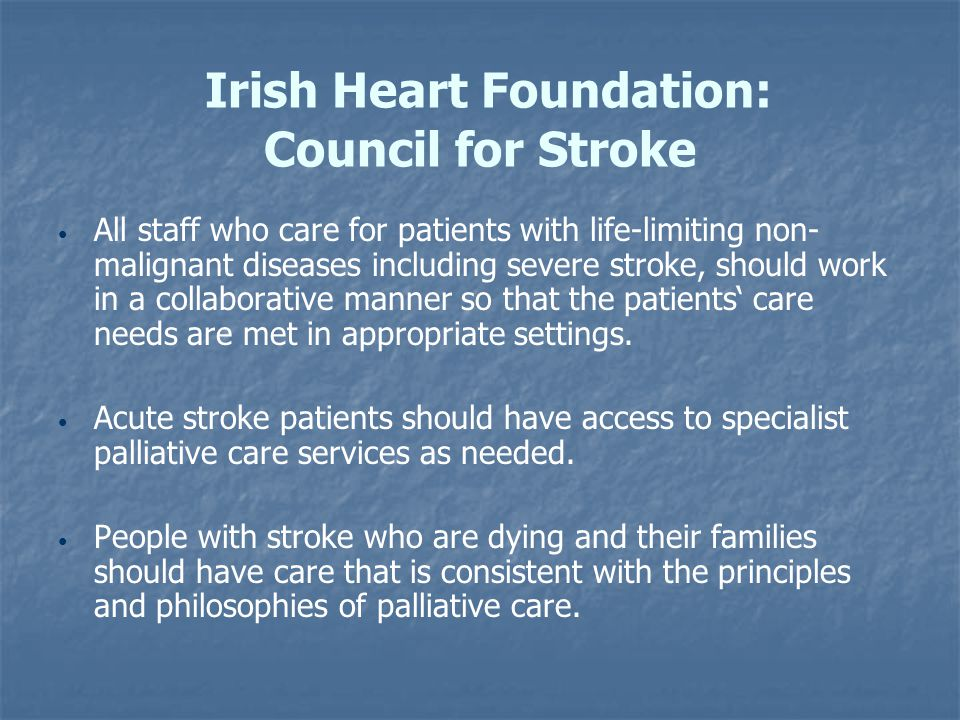 Irish Heart Foundation: Council for Stroke